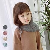氣質不規則針織披肩脖圍 兒童圍巾 保暖圍巾 圍脖