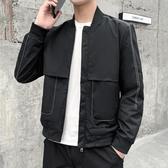 外套夾克 男士工裝夾克韓版潮流春秋季潮牌外套休閒寬鬆棒球服上衣 唯伊時尚