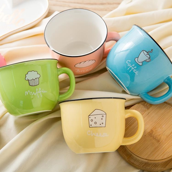 馬克杯 日式陶瓷杯家用可愛水杯情侶創意早餐杯陶瓷杯加厚咖啡杯馬克杯子 歐歐