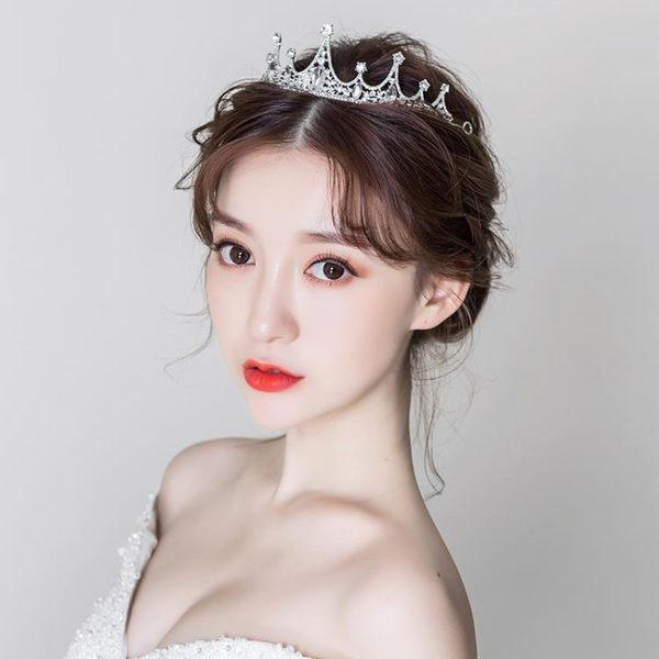 雙12聖誕交換禮物新娘頭飾皇冠飾品森系仙美王冠超仙婚紗禮服配飾結婚發飾