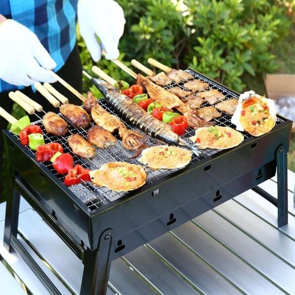 燒烤架戶外迷你燒烤爐家用木炭單人碳烤肉串小型工具野外全套爐子 NMS名購新品