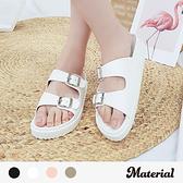 拖鞋 雙帶扣環拖鞋 MA女鞋 T51029