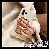 iPhone12 11 XR Xs Max 6 7 8 plus SE2 百搭爆款 韓國金屬方扣系列 液態矽膠軟殼 可支架 手提 手機殼