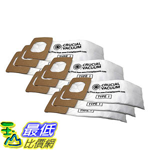 [106美國直購] Type I Paper Bags for Hoover Platinum UH30010COM Upright Vacuums AH10005, 985059002