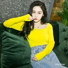 MD韓製-方領素面上衣-3色【01020768】