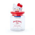 Sanrio 透明立體造型收納罐附蓋 置物罐 糖果罐 HELLO KITTY 紅