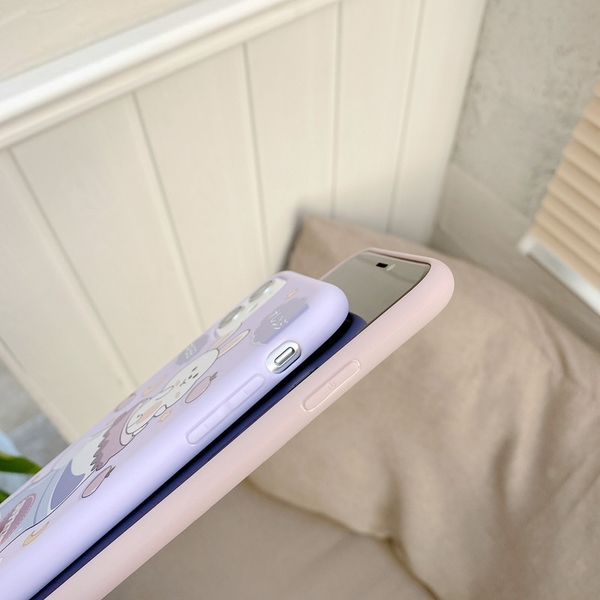 俏皮兔子 iPhone 12 mini iPhone 12 11 pro Max 情侶手機殼 卡通手機套 全包邊軟殼 TPU矽膠殼 保護殼套