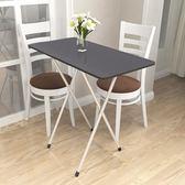 折疊桌簡易餐桌家用小戶型吃飯桌寫字臺可折疊桌便攜戶外擺攤宿舍 卡米優品