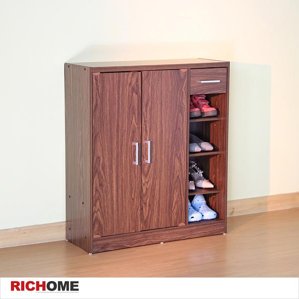 【RICHOME】SC191《超值一抽雙門鞋櫃》防塵-收納-置物-鞋架-穿鞋椅-玄關-對開
