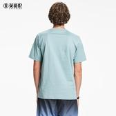 100%棉男士休閒短袖T恤潮流復古印花青圓領半袖體恤 潮流館