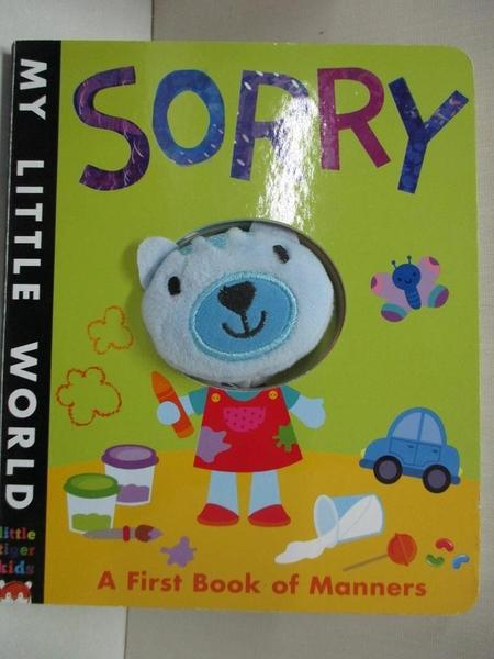 【書寶二手書T1/少年童書_BUG】My Little World: Sorry