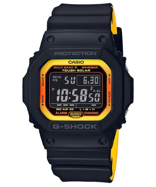 GW-M5610BY-1主張「絕對強悍」推出以黑色調搭配黃色及橙色的全新系列G-SHOCK(原廠公司貨)
