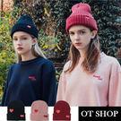 OT SHOP帽子‧韓版簡約愛心‧毛線帽毛帽呢帽‧歐美韓星時尚保暖可愛情侶配件‧現貨3色‧C8189
