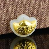 金鑲玉項鍊 和闐玉吊墜-元寶造型生日情人節禮物男女飾品73gf105[時尚巴黎]