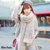 藍色巴黎~日系小清新雙色保暖針織毛料圍巾~3 色~~21594 ~