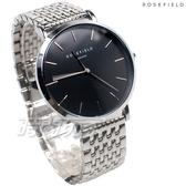 ROSEFIELD 歐風美學 時尚簡約 圓形 不鏽鋼 女錶 防水手錶 UEBS-U25