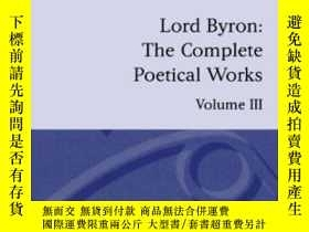 二手書博民逛書店The罕見Complete Poetical Works, Vo
