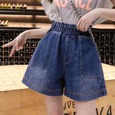 牛仔短褲女S-5XL春夏200斤大碼女裝韓版高腰簡約時尚5852F039-B依佳衣