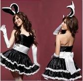 聖誕服女服裝兔女郎cos聖誕老人舞臺服聖誕演出服大兔子黑色
