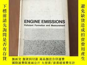 二手書博民逛書店ENGINE罕見EMISSIONS Pollutant Formation and Measurement (發動