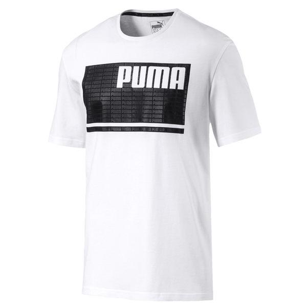 Puma Logo 流行系列 男 白 短袖 T恤 運動上衣 短T 休閒 衣服 85225102