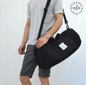 健身包男手提圓筒包斜挎包足球訓練包運動包防水短途旅行包行李包【時尚家居館】