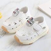 學步鞋春夏男女寶寶嬰兒鏤空軟底學步鞋0-1-3歲兒童單鞋幼兒半涼鞋快速出貨下殺75折