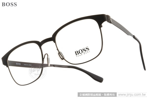 HUGO BOSS 光學眼鏡 HB0695JS G4J99 (深棕) 時下新寵眉框設計款 # 金橘眼鏡