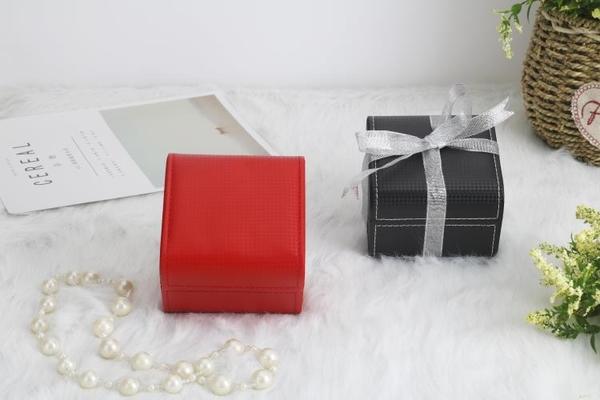 手錶收藏盒 高檔荔枝紋手錶盒子翻蓋收納盒禮品盒包裝盒單個手錶展示盒 【快速出貨】