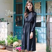 東京著衣【YOCO】小復古滿版小花縮腰洋裝-S.M(170101)