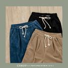 褲子   復古冬氛必備燈芯絨打褶直筒褲S-M  三色-小C館日系