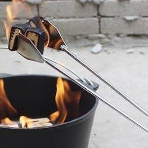 ♥巨安網購♥【GT107041833】加長戶外碳夾木炭夾麵包烤肉燒烤夾