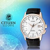 CITIZEN 星辰手錶專賣店 CB0153-13A 男錶  Eco-Drive光動能 日系 小牛皮錶帶 強化礦物玻璃鏡面
