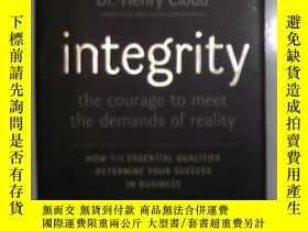 二手書博民逛書店《罕見Integrity 》Dr. Henry Cloud 著Y