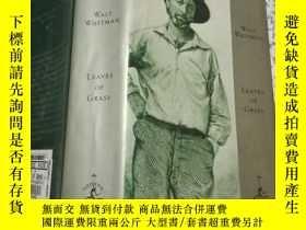 二手書博民逛書店【1892年版草葉集】沃爾特·惠特曼罕見Leaves of Grass - Walt Whitman 美國Mode
