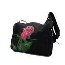 朵那的手繪包 熾熱愛戀-紅玫瑰 帆布斜背包