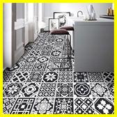 廚房浴室衛生間防水貼紙瓷磚貼地磚貼摩洛哥花紋地板貼紙翻新自粘