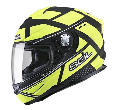 [東門城] SOL SF-5 阿爾法 消光黑/螢光黃 全罩式安全帽