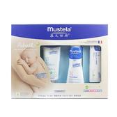 【限宅配】Mustela慕之恬廊 嬰幼兒親子禮盒【BG Shop】~ 髮膚雙潔乳+潤膚乳+護膚膏+多慕雙潔乳 ~