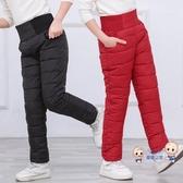 兒童棉褲 2020秋冬裝兒童羽絨棉褲男童女童外穿加厚長褲冬季高腰寶寶保暖褲 3色100-150