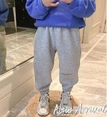 運動褲男童加絨褲子冬裝新款加厚休閒運動兒童寶寶秋冬季小孩長褲潮 快速出貨