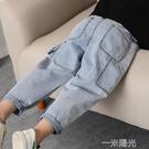 男童褲子春夏薄款兒童牛仔褲純棉男孩軟牛仔長褲潮小孩中腰防蚊褲 一米陽光