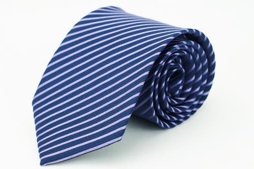 【Alpaca】深藍斜紫紋領帶