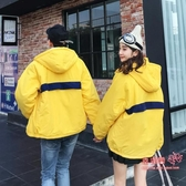 兩面穿外套 冬季情侶裝棉服外套情侶款刷毛加厚韓版潮ins百搭冬天兩面穿棉衣T
