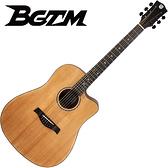 BGTM嚴選BT-1640S雲杉木單板吉他-41吋單板/缺角造型款/附贈千元好禮
