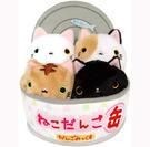 貓咪罐頭置物盒 療癒感貓咪沙包桌飾 2017 日本限定正品 該該貝比日本精品 ☆