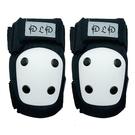 D.L.D  多輪多 專業特技直排輪護具 溜冰鞋 蛇板 滑板護具配件 極限運動強化護膝(肘) 黑白 XS