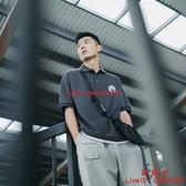 日系男裝翻領短袖男T恤假兩件POLO衫男士有領上衣【西語99】