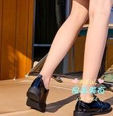 布洛克鞋 西遇女鞋英倫繫帶小皮鞋布洛克雕花深口鞋 34-39
