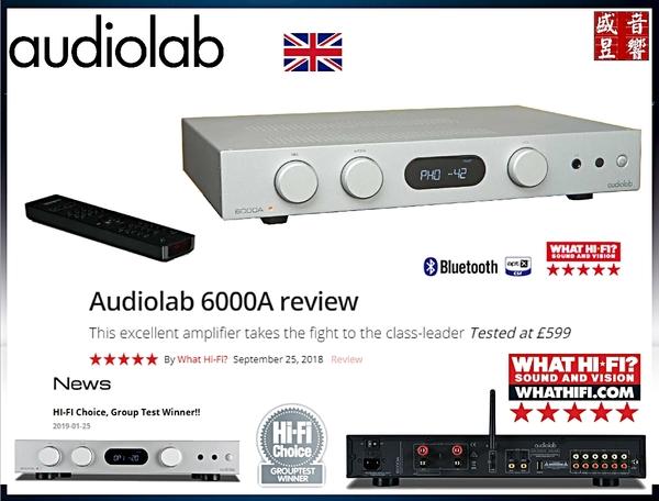 『門市有現貨』英國 Audiolab 6000A 綜合擴大機(銀色) 另有 Audiolab 8300A